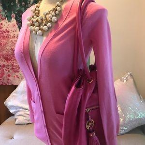 J.Crew classic cardigan 100 % merino wool pink 🌸
